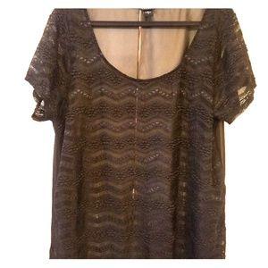 Black Torrid blouse sz 2(2x) lace/ sheer